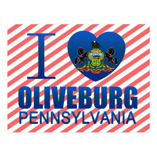 I Love Oliveburg, PA Postcard