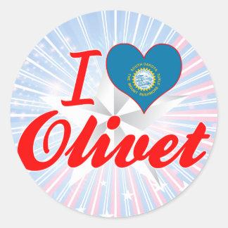 I Love Olivet, South Dakota Round Sticker