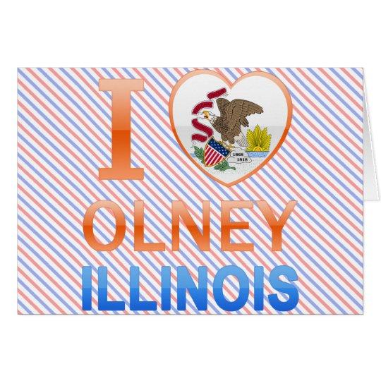 I Love Olney, IL Card