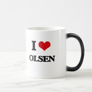 I Love Olsen Morphing Mug