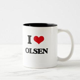 I Love Olsen Two-Tone Coffee Mug