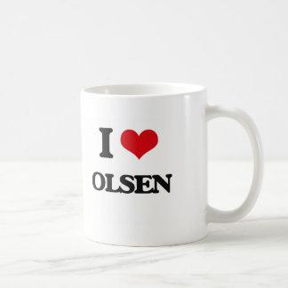 I Love Olsen Basic White Mug