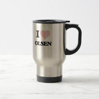 I Love Olsen Stainless Steel Travel Mug