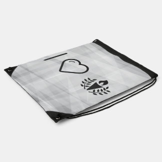 I Love Olympics Drawstring Bags