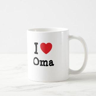 I love Oma heart T-Shirt Mugs