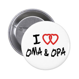 I Love Oma Opa Buttons