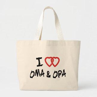 I Love Oma & Opa Large Tote Bag