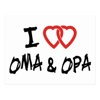 I Love Oma Opa Postcards
