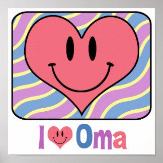 I Love Oma Print
