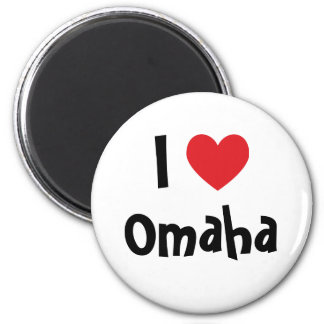 I Love Omaha Magnet