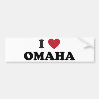 I Love Omaha Nebraska Bumper Sticker