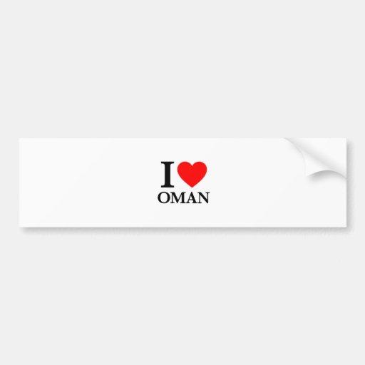 I Love Oman Bumper Sticker