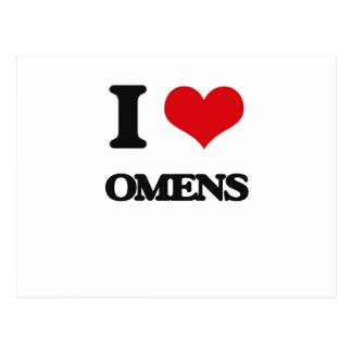 I Love Omens Postcard