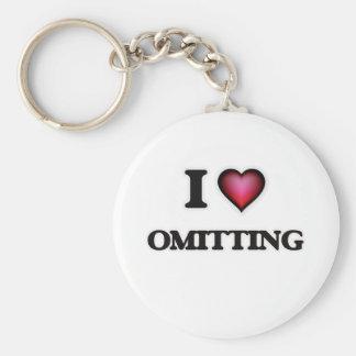 I Love Omitting Key Ring
