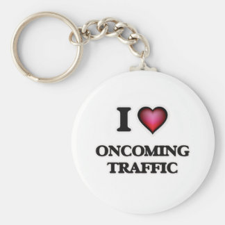 I Love Oncoming Traffic Key Ring