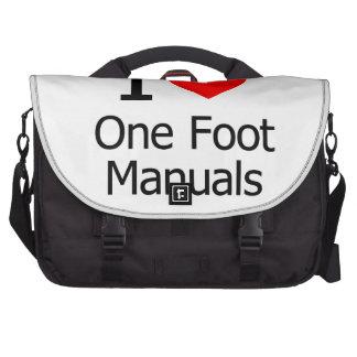 I Love One Foot Manuals Computer Bag