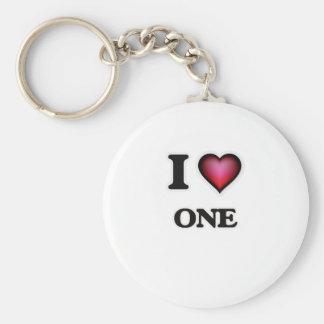 I Love One Key Ring