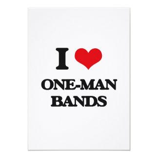 I love One-Man Bands 13 Cm X 18 Cm Invitation Card
