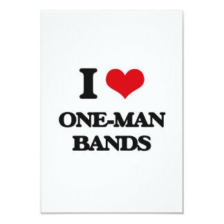 I love One-Man Bands 9 Cm X 13 Cm Invitation Card