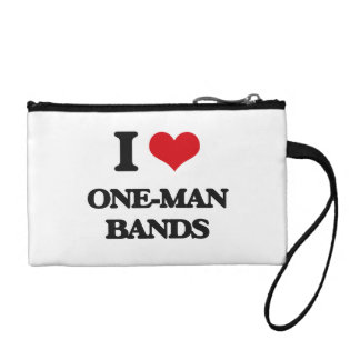 I love One-Man Bands Coin Purses