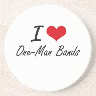 I love One-Man Bands Coasters