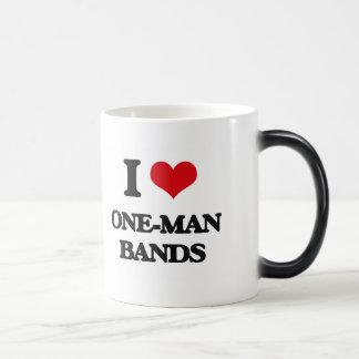 I love One-Man Bands Morphing Mug