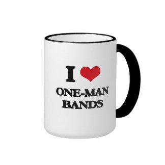 I love One-Man Bands Ringer Mug