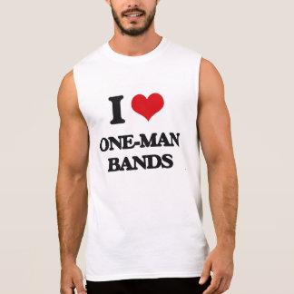 I love One-Man Bands Sleeveless T-shirts