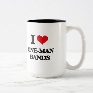I love One-Man Bands Two-Tone Mug