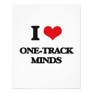 I Love One-Track Minds Full Color Flyer