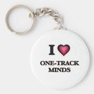 I Love One-Track Minds Key Ring