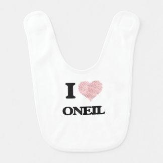 I Love Oneil Baby Bib