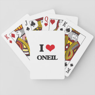 I Love Oneil Deck Of Cards