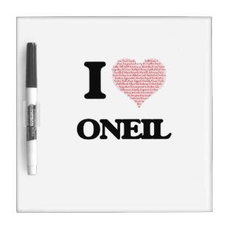 I Love Oneil Dry-Erase Whiteboards