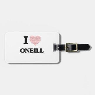 I Love Oneill Bag Tags