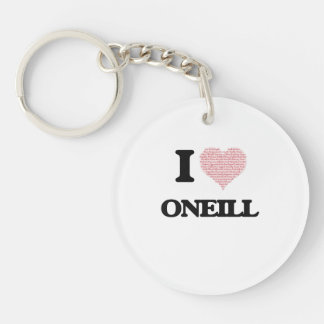 I Love Oneill Single-Sided Round Acrylic Key Ring