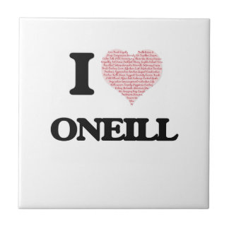 I Love Oneill Small Square Tile