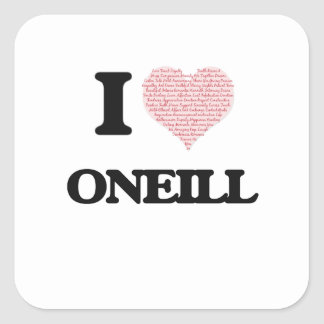 I Love Oneill Square Sticker