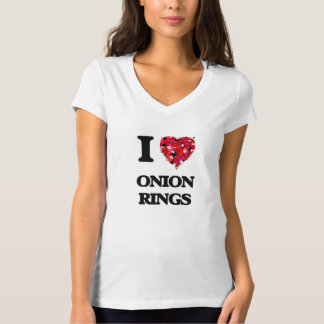 I Love Onion Rings food design Tee Shirts