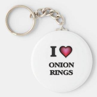 I Love Onion Rings Key Ring