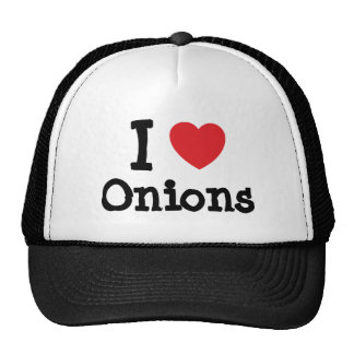 I love Onions heart T-Shirt Cap