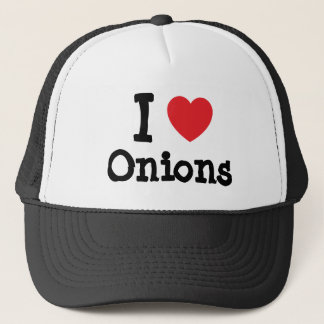 I love Onions heart T-Shirt Trucker Hat