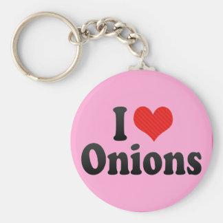 I Love Onions Key Ring