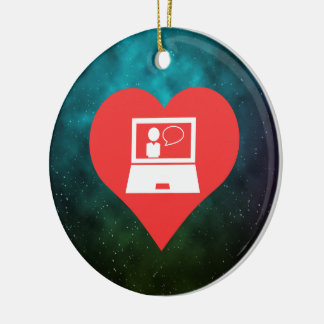 I Love Online Classes Christmas Ornament