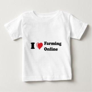 i love online farming t-shirt