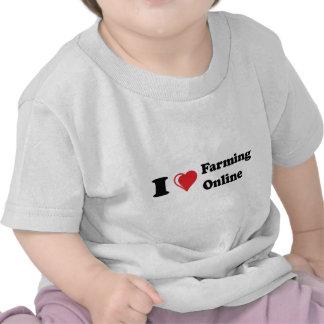 i love online farming tee shirts