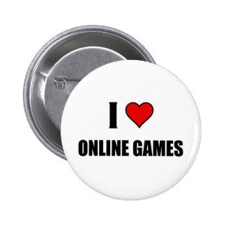 I love online games pinback button