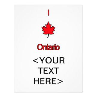 I Love Ontario 21.5 Cm X 28 Cm Flyer