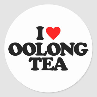 I LOVE OOLONG TEA ROUND STICKER