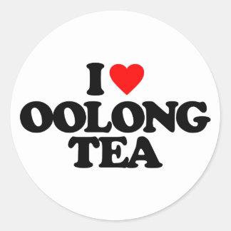 I LOVE OOLONG TEA ROUND STICKER